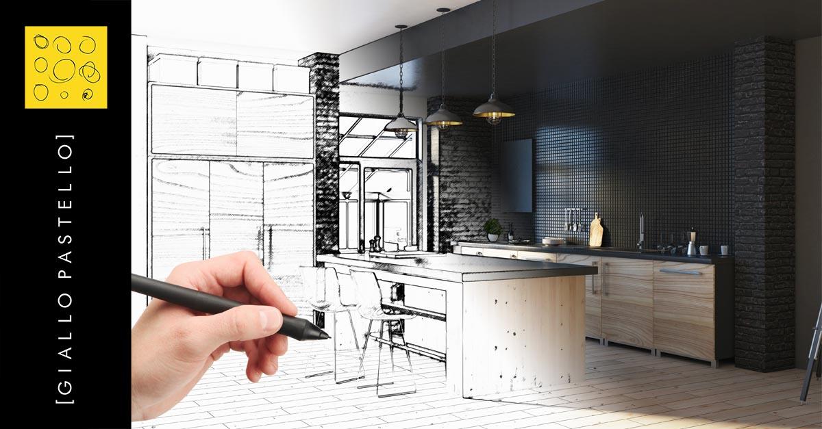 Ristrutturazione Casa Ufficio Bar E Negozi A Brescia Giallo Pastello Interior Design Brescia