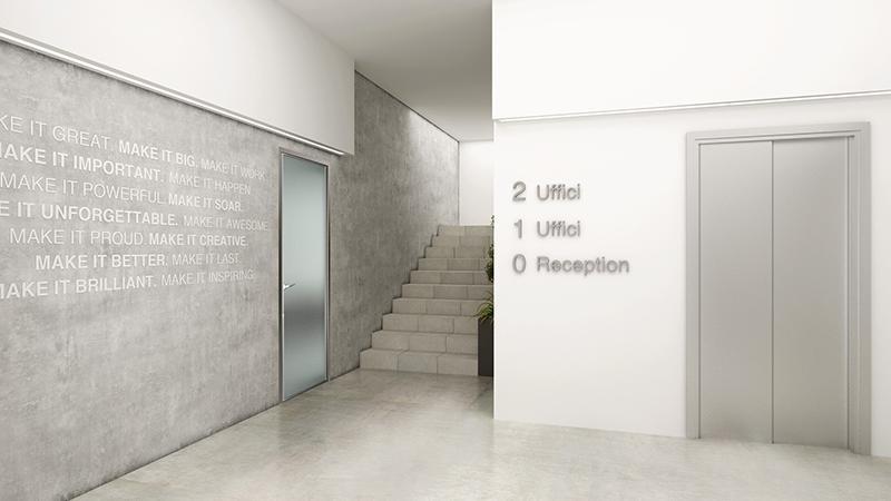 Progetto uffici Commercialisti - Interior Design Brescia - Giallo Pastello