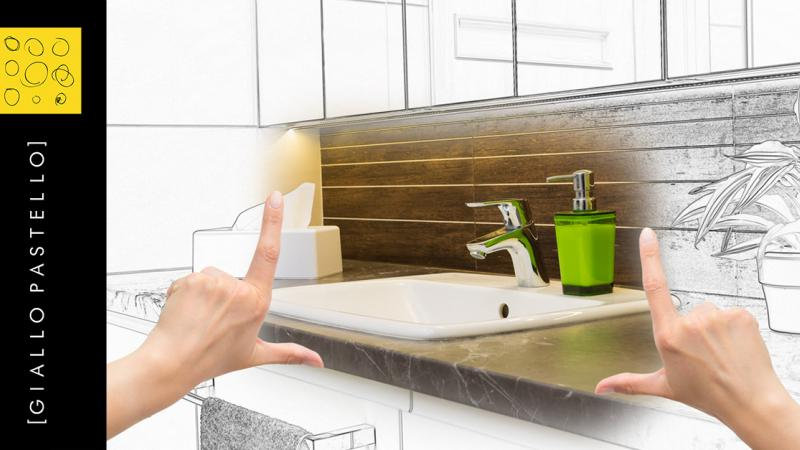 Ristrutturare il Bagno: i 5 migliori trend per Giallo Pastello Interior Design Brescia