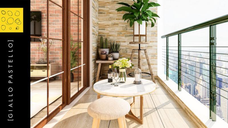 Progettazione Esterni: Come arredare il tuo balcone - Giallo Pastello Interior Design