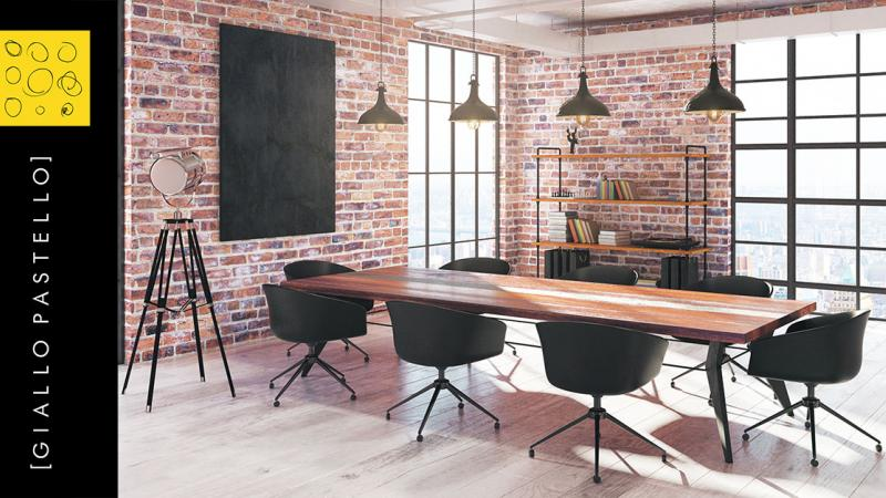 Arredo Ufficio: i consigli dell'Interior Designer - Giallo Pastello - Interior Design Brescia